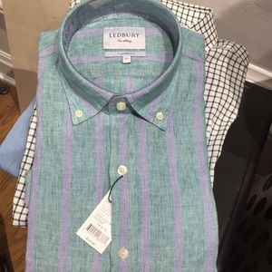New Ledbury Fine Shirting Tailored Fit 16 1/2 L
